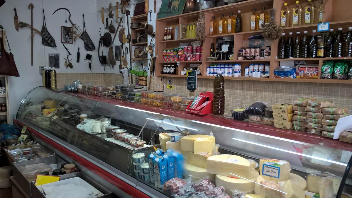 grecki sklepik na wyspie lefkada