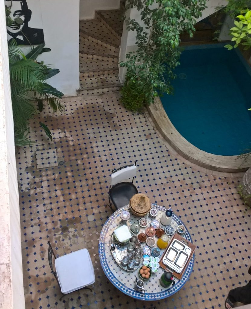 Riad w Marrakeszu, Marocco