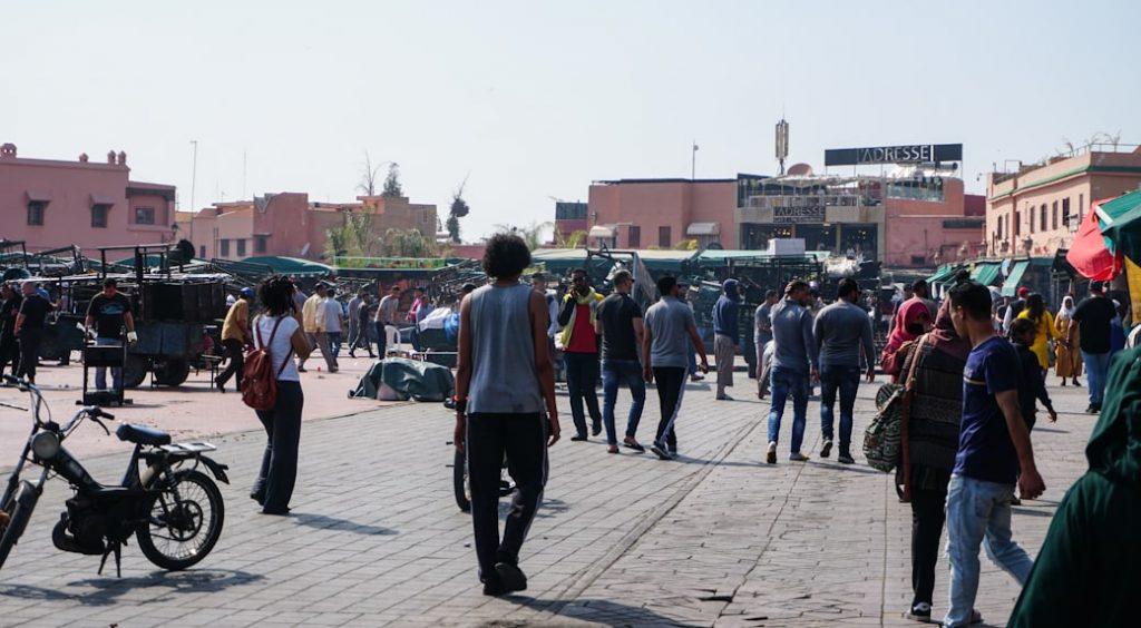Jemaa El Fna Maroko Marrakesz