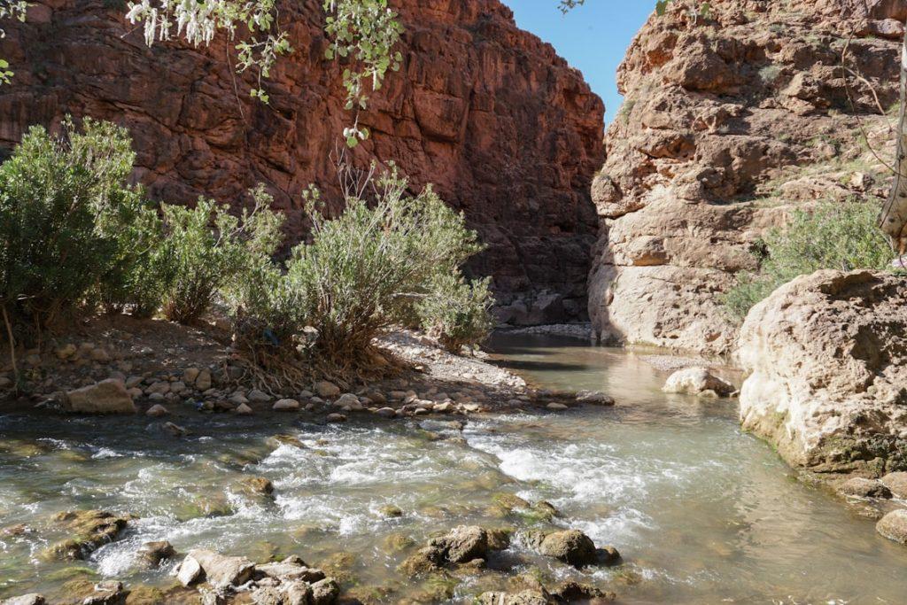 rzeka w dolinie Dades