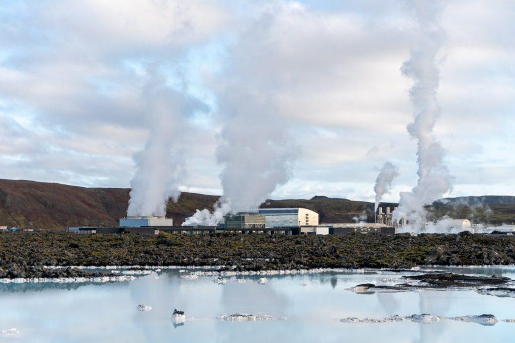 Blue Lagoon na zewnatrz islandia