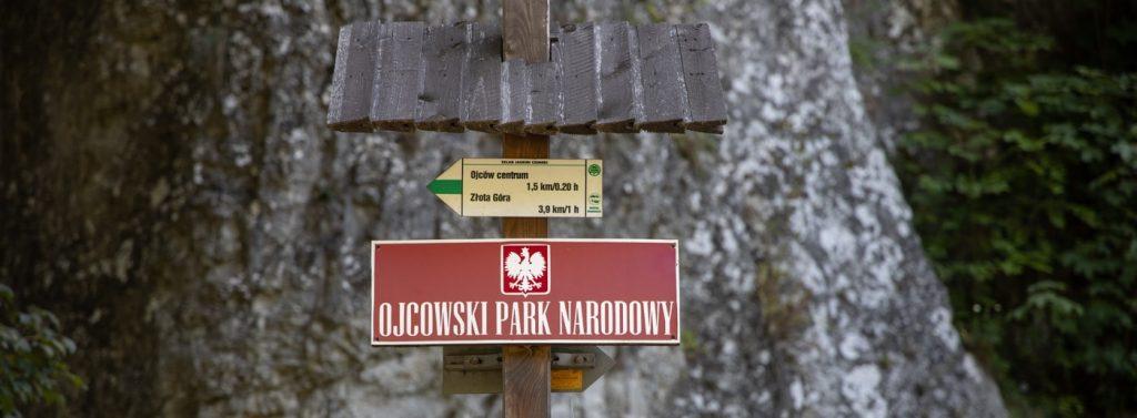 Ojcowski Park Narodowy - tablica
